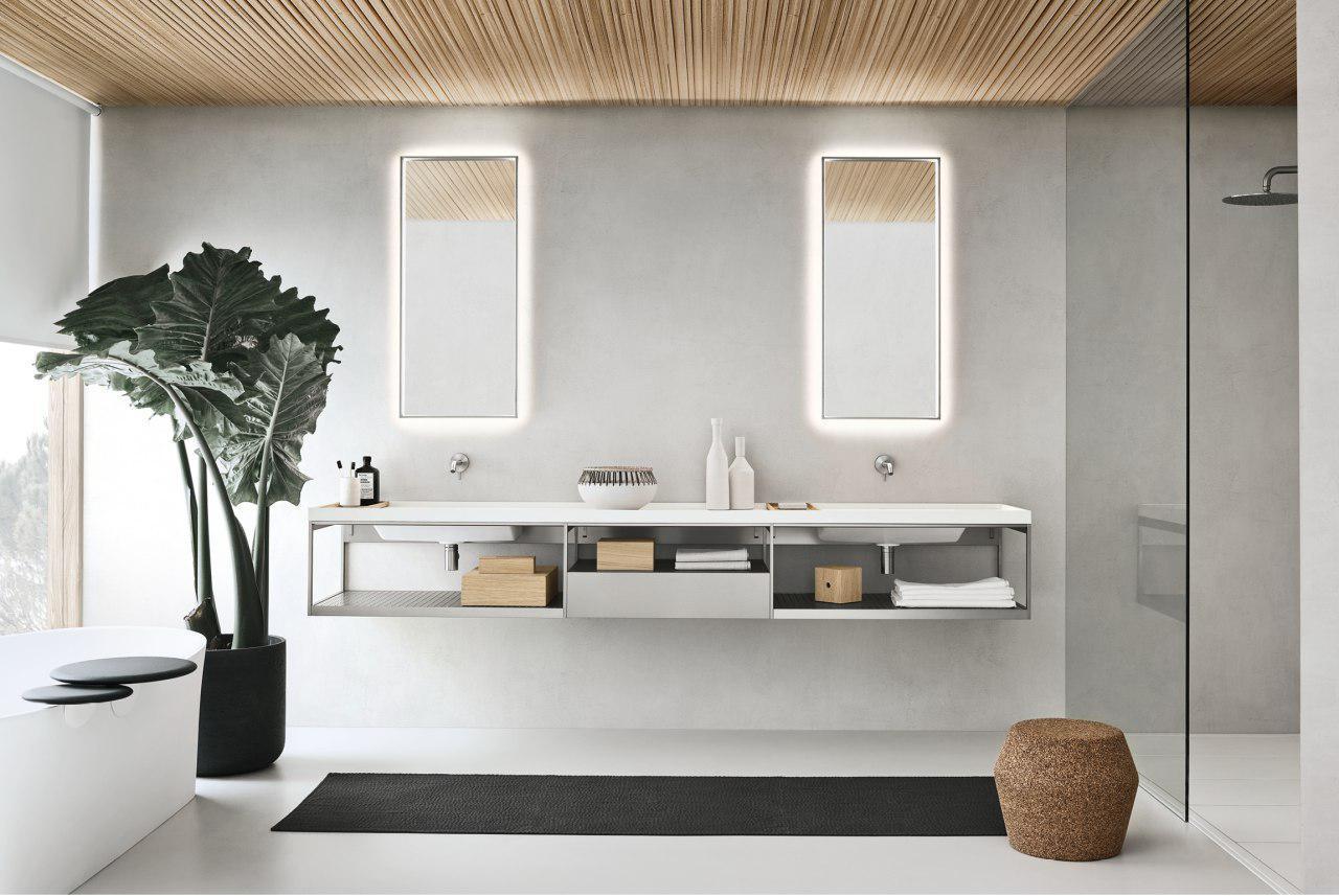 Кирпичная стена белая на кухне